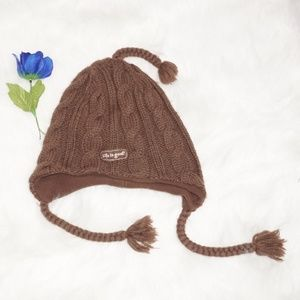 Life is Good Brown Knit Ski Beanie